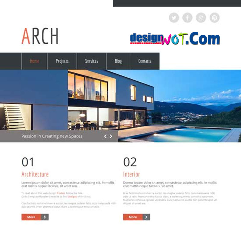 RCH Free HTML5 Theme Architecture