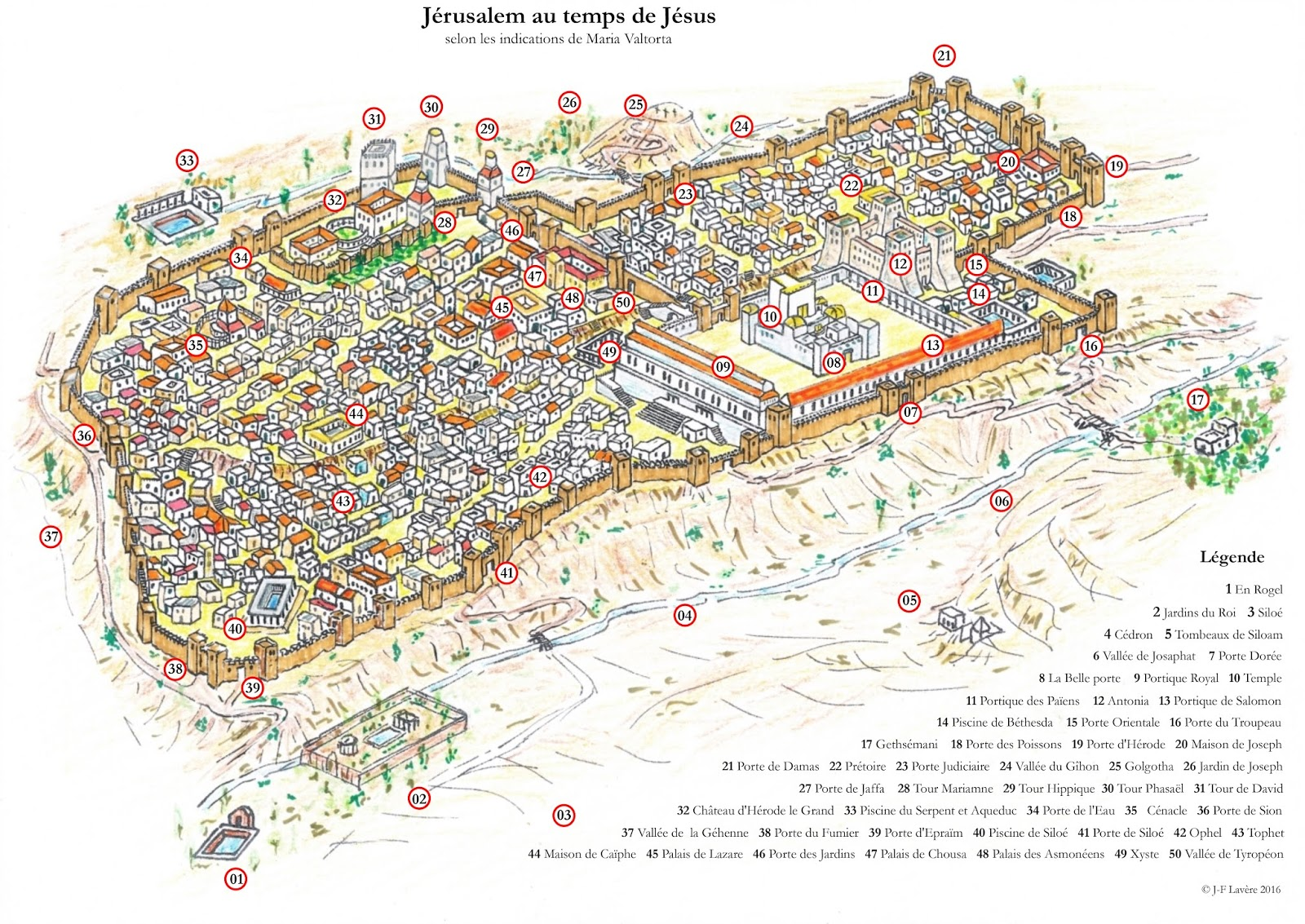 plan de jerusalem