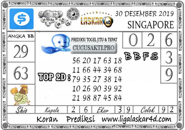 Prediksi Togel SINGAPORE LASKAR4D 30 DESEMBER 2019