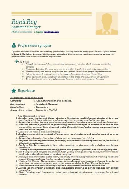 Sales Resume - Best Sample Resume