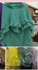 Jilbab 2 Layer Khimar Sofia