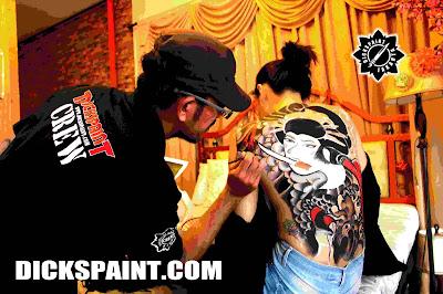 Body Painting Lady Yakuza Jakarta