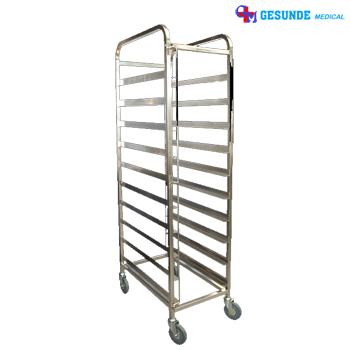Trolley Makan Stainless Steel 10 Tingkat