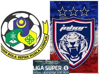Live Streaming Kuala Lumpur FA vs JDT FC Liga Super 10 Februari 2018