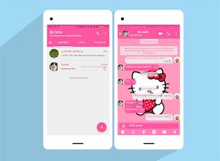 tema whatsapp hello kitty by Diqzz