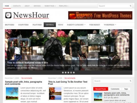 Free  NewsHour WordPress Theme