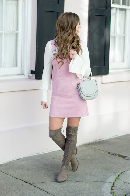 How To Style Over The Knee Boots with a Dress - Chasing Cinderella