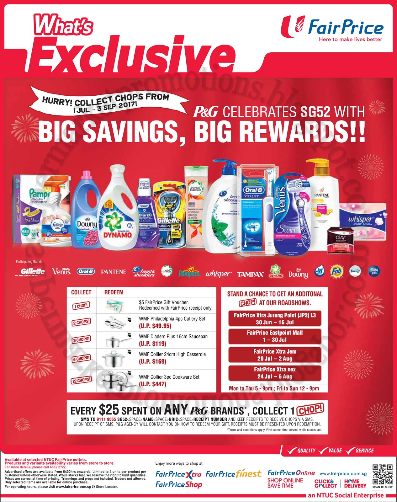 Ntuc Fairprice P G Celebrates Sg52 Promotion 01 July 03 September 2017 Supermarket Promotions