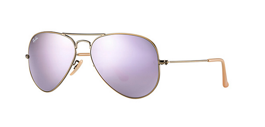 My Superficial Endeavors Ray Ban Aviator Lilac Mirror Lenses