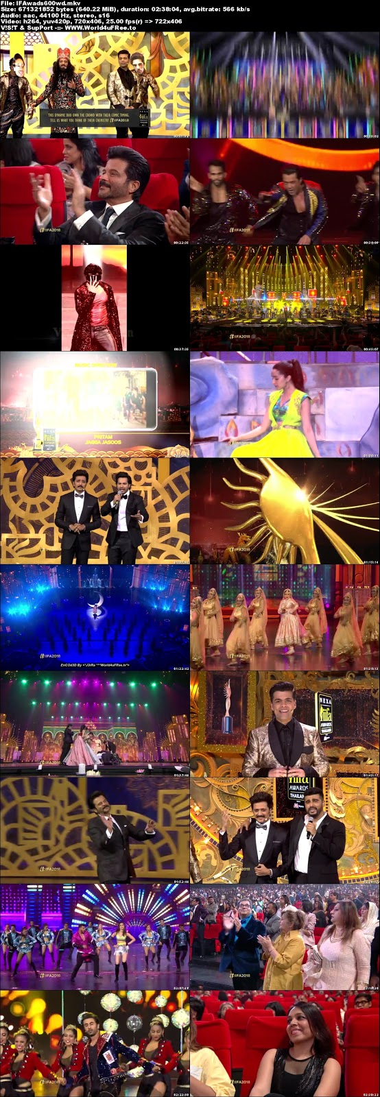 IIFA Awards 2018 Hindi Main Event WEBHD 480p 600Mb x264