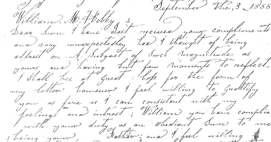 Western Kentucky Genealogy Blog: Letter from California 1855