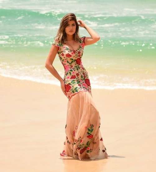 vestido de festa praia