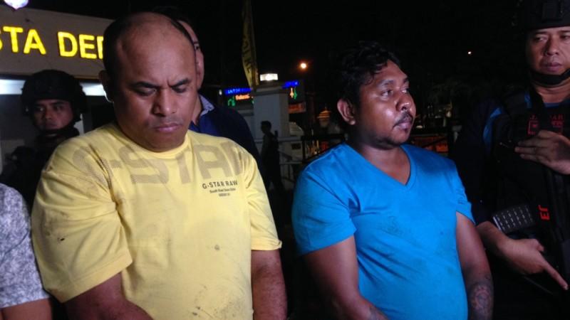Tampang dua pelaku pembacokan saksi ahli IT Hermansyah