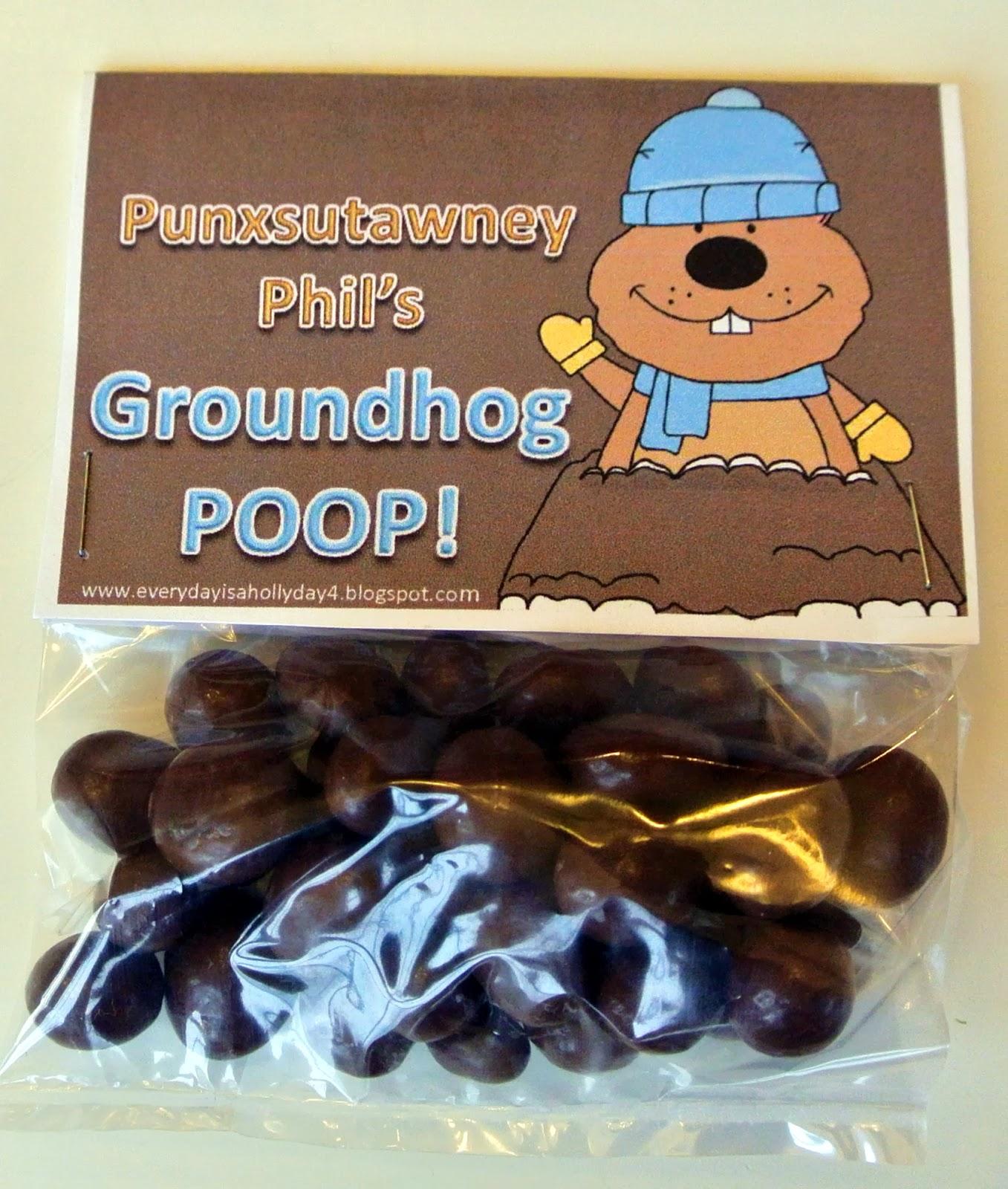 Everyday Is A Hollyday Groundhog Poop Free Printables