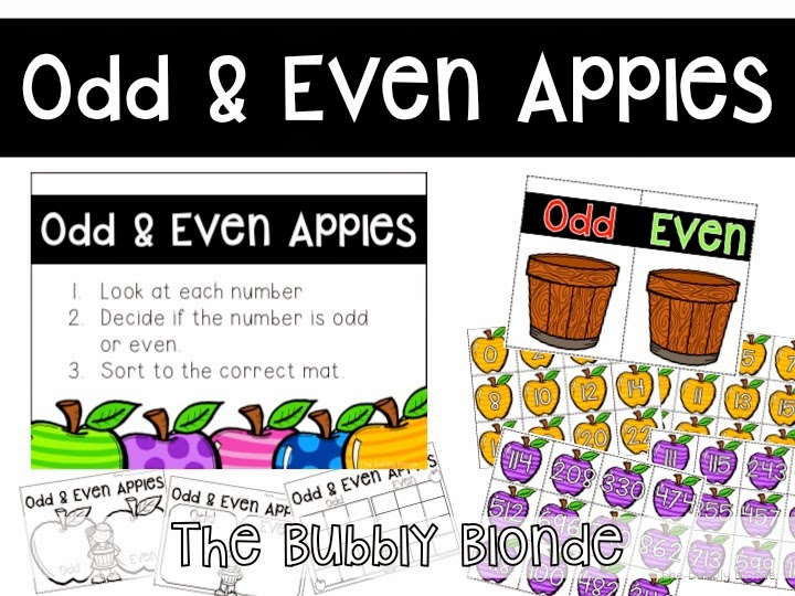 http://www.teacherspayteachers.com/Product/Odd-Even-Apples-Math-Center-Freebie-1464251