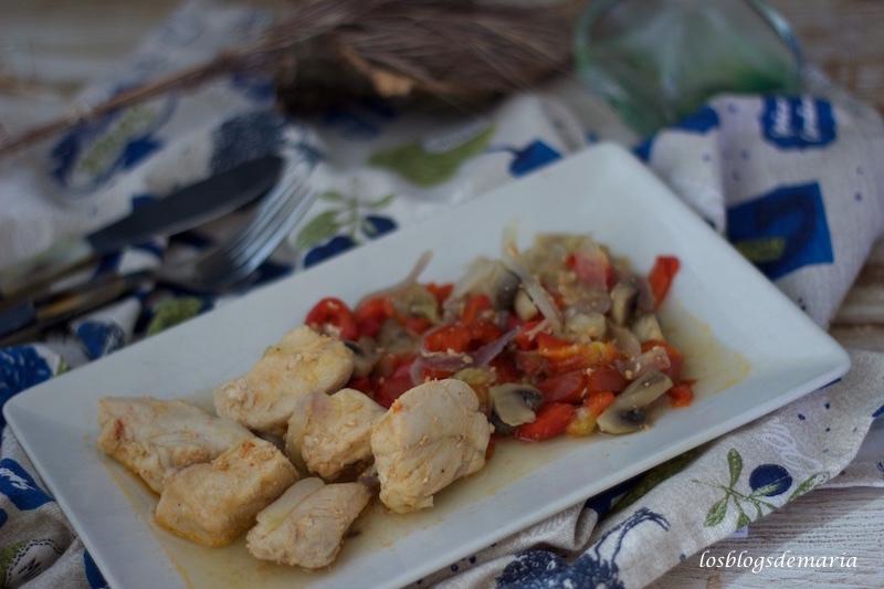 Pechuga de pollo con verduras en Cuisine Companion