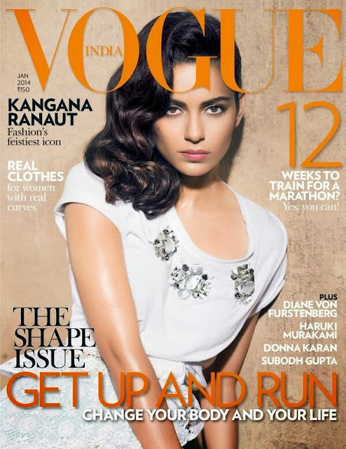 Kangana Ranaut covers Vogue India's January 2014 issue