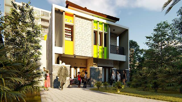 eL-Fattah Guesthouse, Desain Rumah Kos, yang menjaga privasi empunya