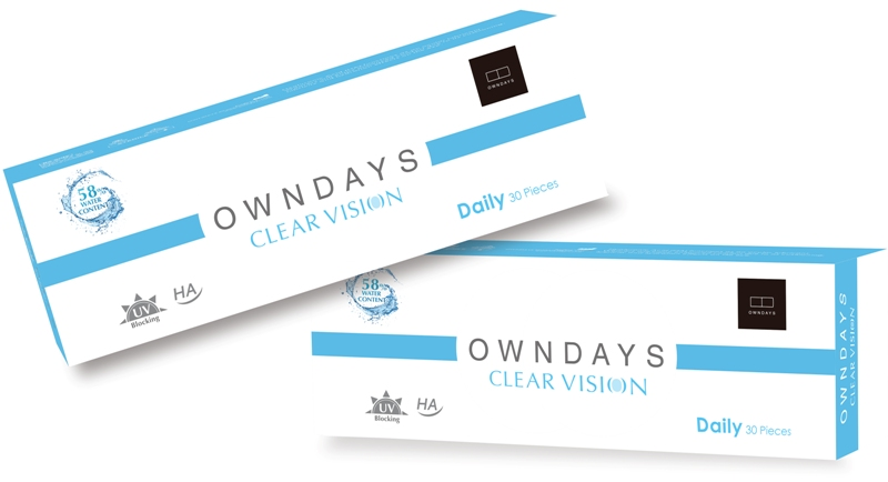 owndays clear vision soft contact lens hyaluronic acid