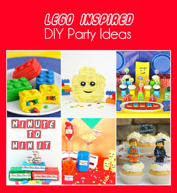 DIY Lego Head Pinata and DIY Lego Birthday Party Ideas - BirdsParty.com