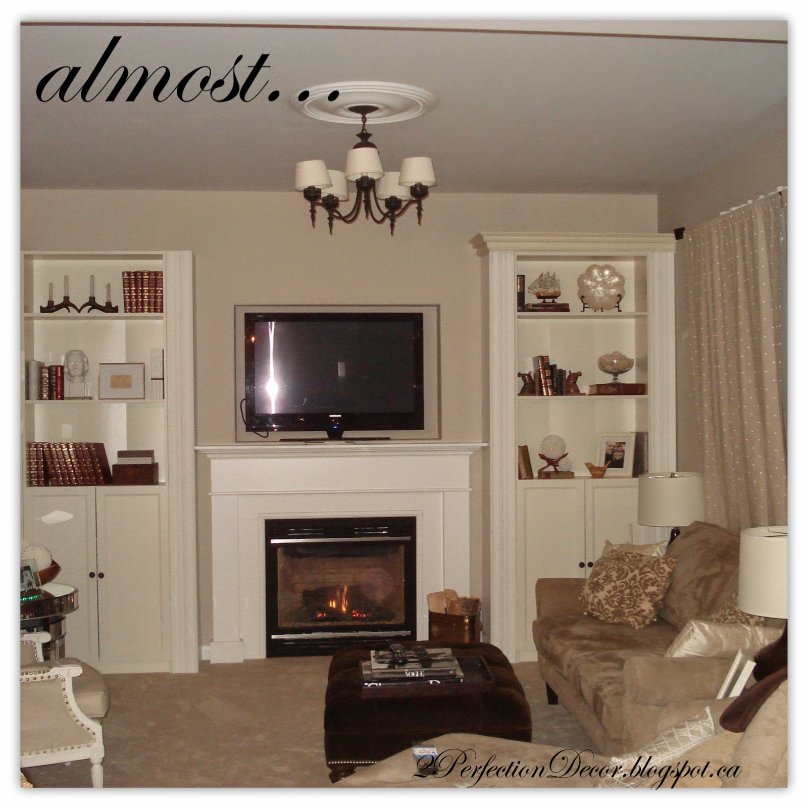 2Perfection Decor: Built-in Bookshelves to flank fireplace