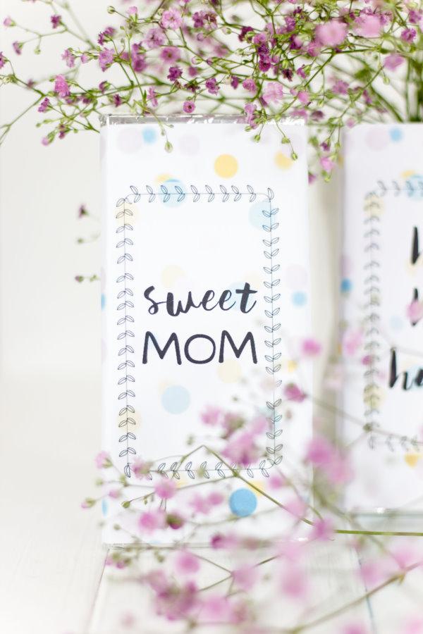 Geschenk für die beste Mama - leckere Schokolade in selbst gestalteter Verpackung