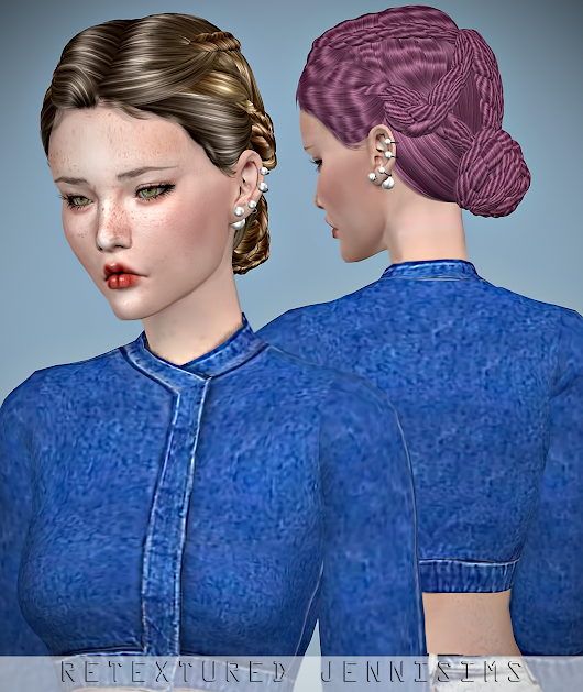 Downloads sims 4:Newsea Pasodoble Hair retexture