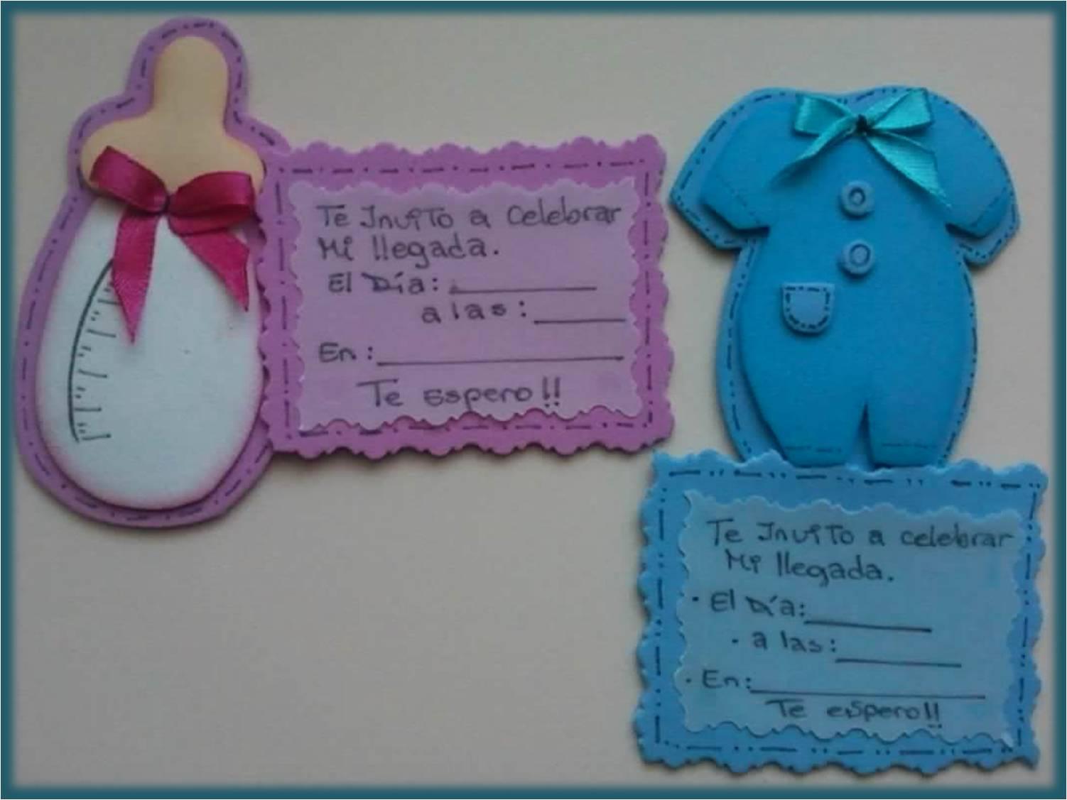 Tarjetas De Invitación Baby Shower En Foami Imagui