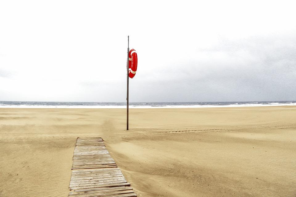 plaża, ratownik, koło, Darłówek, ratownicy, dzieci, rodzice, utonięcie
