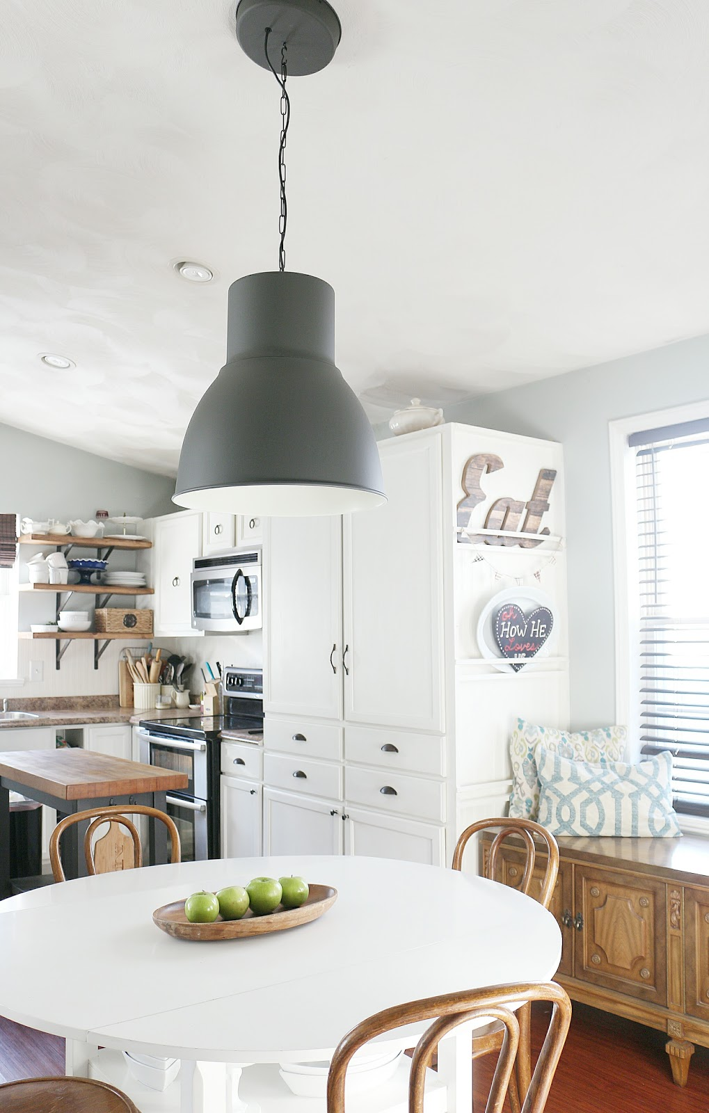 ikea hektar lighting in eat in kitchen