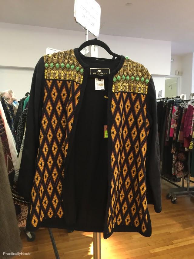 Etro sample sale embellished cardigan jacket