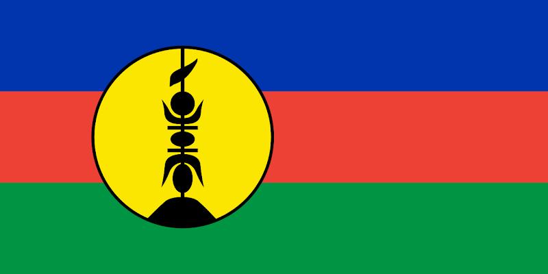 Logo Gambar Bendera Negara Kaledonia Baru PNG JPG ukuran 800 px