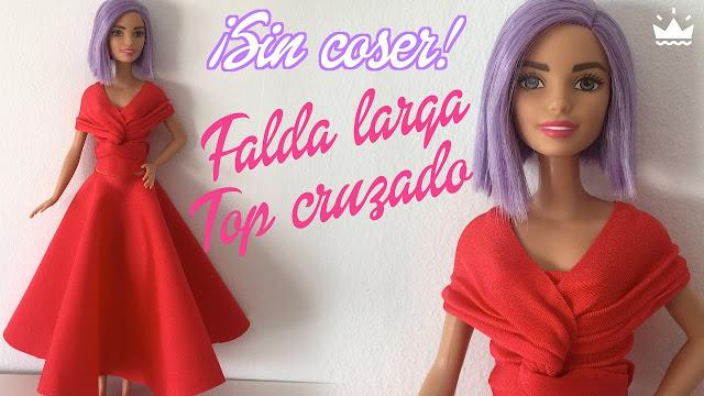 Cómo Hacer Faldas Para Barbie Ropa Para Muñecas 839