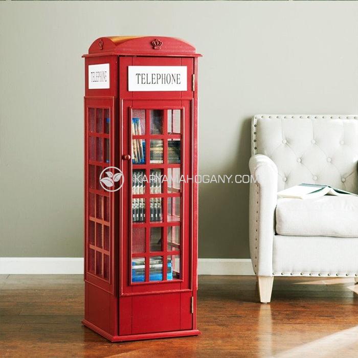 Jual Box Telepon Inggris Merah