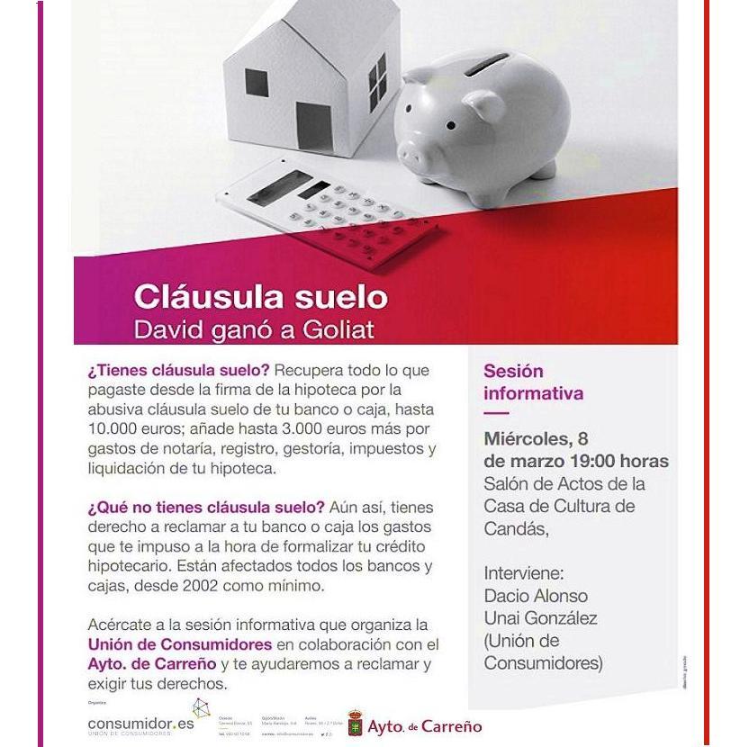 El morri n hoy en la casa de cultura clausula suelo y for Hipoteca suelo bbva