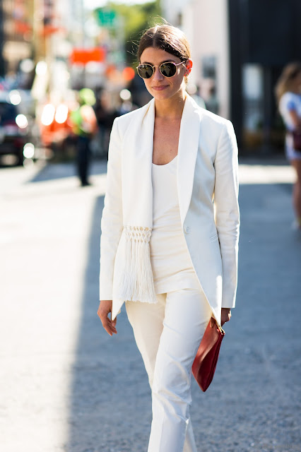 blazer white by Amanda Weiner
