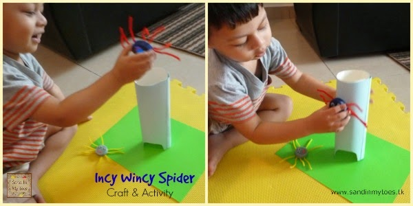 Doing the Incy Wincy Spider Activity