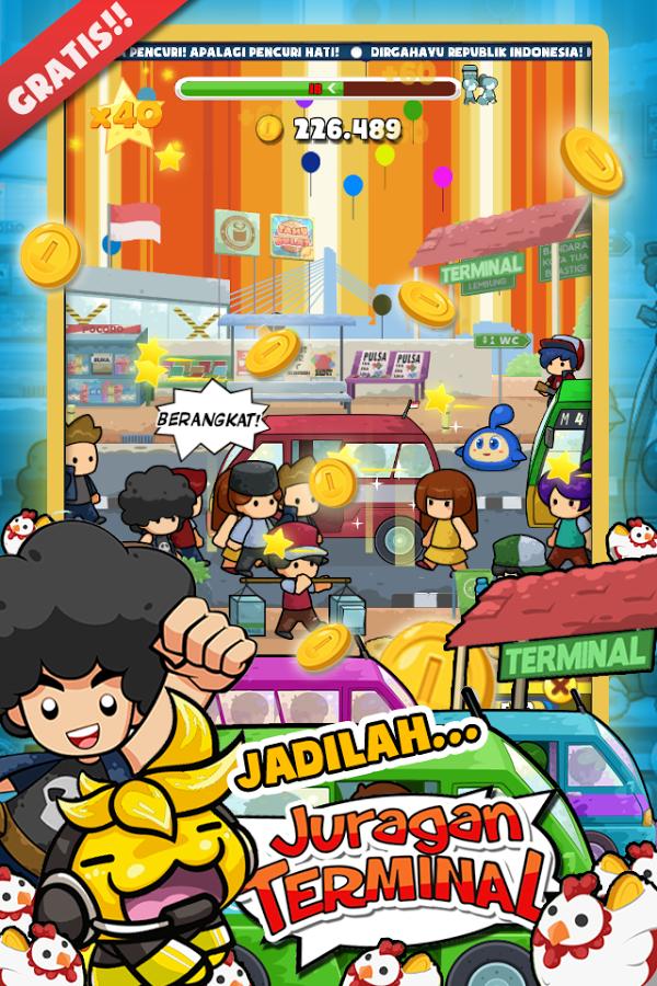 Free Download Game Juragan Terminal MOD v2.1 Mod Apk Full Unlocked Terbaru 2016