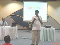 Mr D V Sridhar, Founder, Yoga Raksana and one of the leading Yoga experts of Chennai explaining the concepts of Yoga