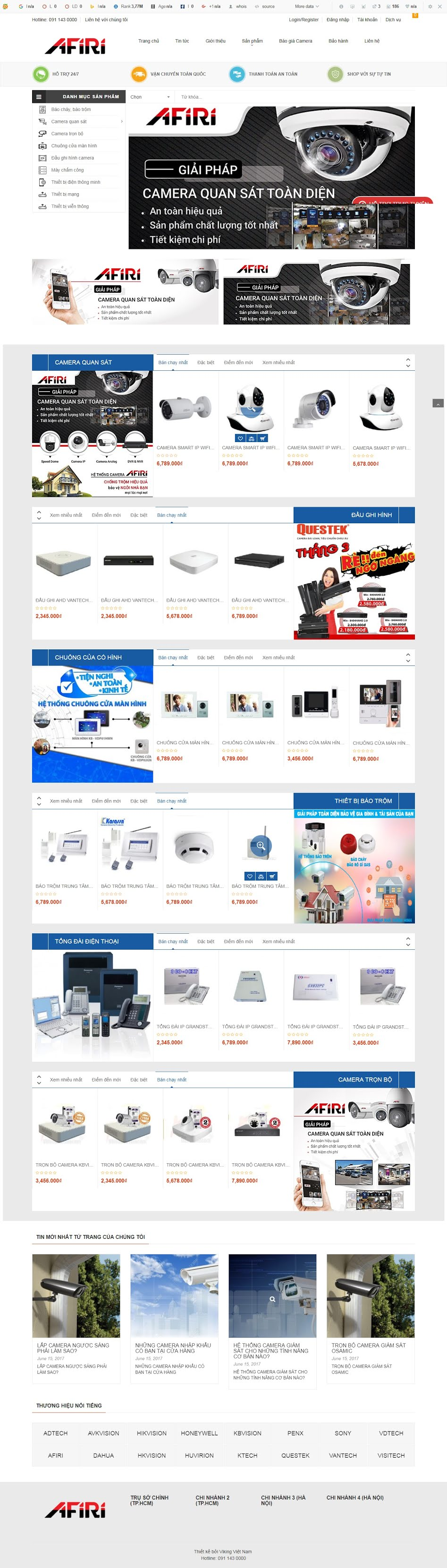 MẪU BÁN HÀNG 069 - shop điện tử