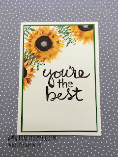 Learn how to make this simple Sunflower Card using Stampin' Up! products
