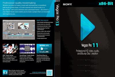Sony Vegas Pro 11.0.682 x86-Bits (32-Bits) PT-BR DVD Capa