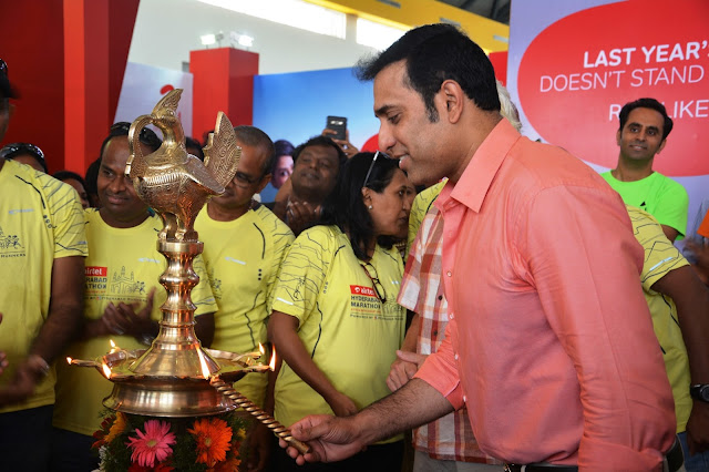 VVS Laxman inaugurates Airtel Hyderabad Marathon Expo & SportEX India