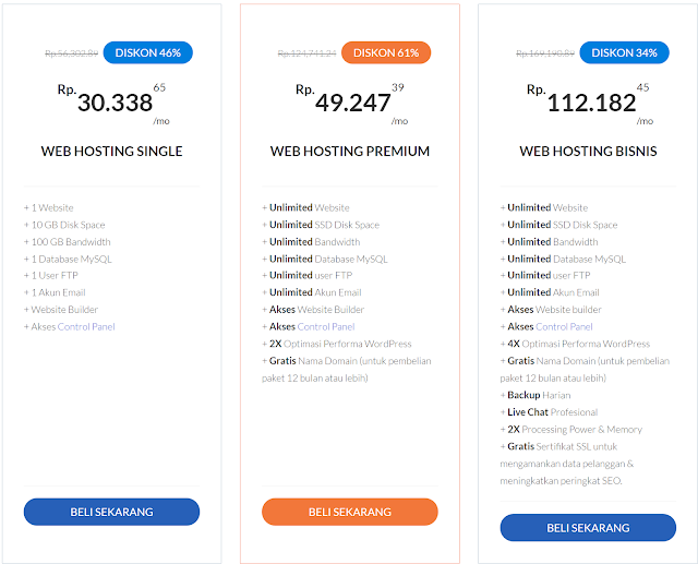 web hosting yang premium dan murah memiliki kualitas yang bagus dan keren, dengan berbagai macam fitur terbaik ditahun 2018 sebagai hosting dan domain gratis.