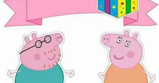 Awesome Peppa Pig Birthday Free Printable Cake Toppers Oh My Fiesta In Funny Birthday Cards Online Overcheapnameinfo