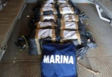Aseguran más de 200 kilos de cocaína frente a costas de Chiapas