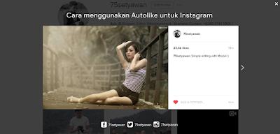 Cara Menggunakan Autolike untuk Instagram Terbaru 2016