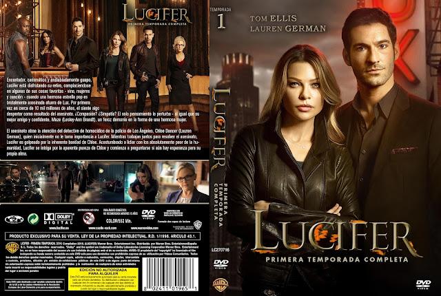 Capa DVD Lucifer Primeira Temporada Completa