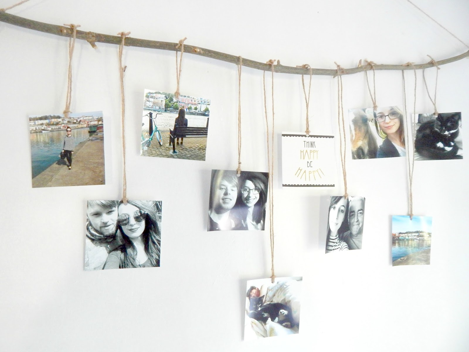 diy hanging photo display what lauren did today