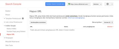 Cara hapus url artikel blog di google webmaster tools permanen